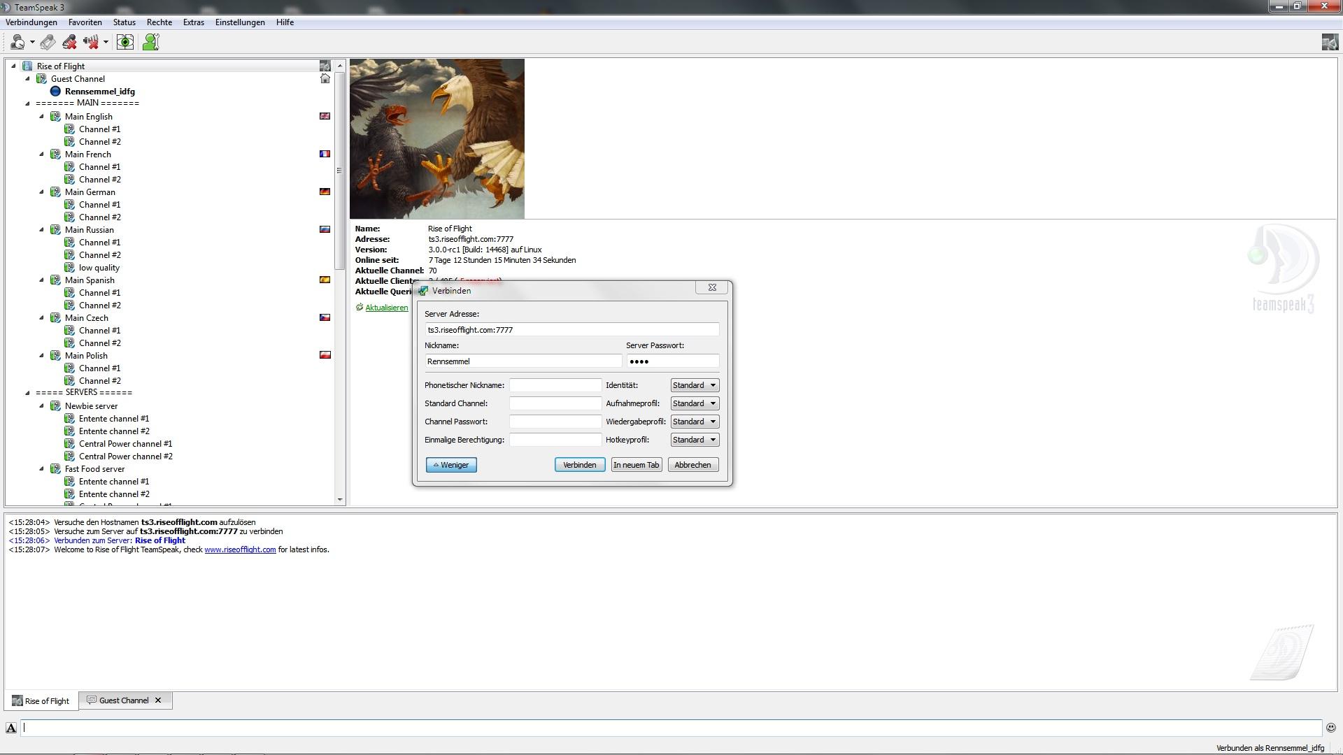 Unofficial public ROF Teamspeak 3 Server up! - Announcements